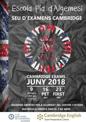 Cambridge Exams 2018